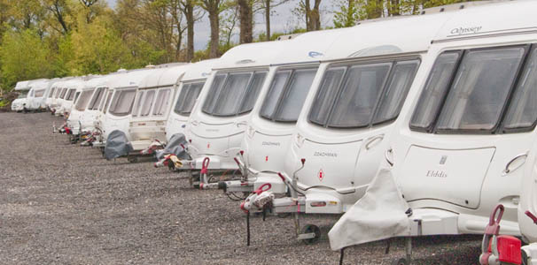 outside caravan storage in lancashire